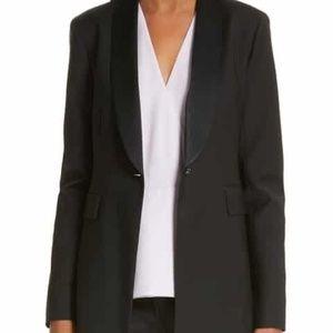 LEWIT Women's Black Tuxedo Jacket Blazer 10